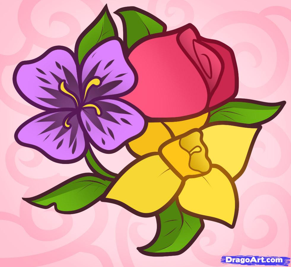 Flower Beautiful Flower Pictures Easy To Draw
