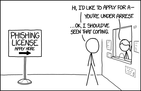 xkcd: Phishing License