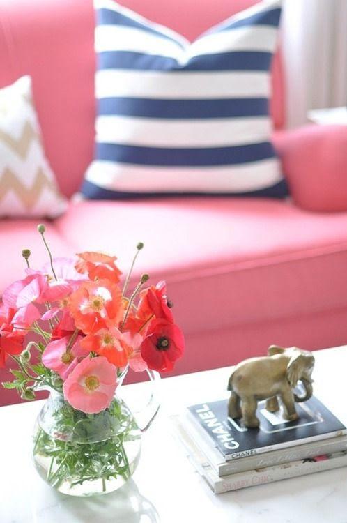 Pink, White & Navy