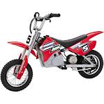 Razor MX350 Dirt Rocket 24V Electric Toy Motocross Motorcycle Dirt Bike, Red