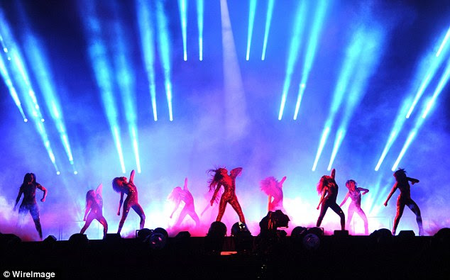 On the go: They are performing over 40 songs at each show during their 21 date tour that will bring them next to Cincinnati, Ohio on Saturday and then to Foxborough, Massachusetts on Tuesday