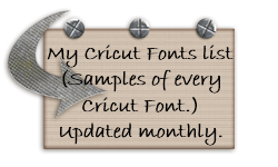 If you download my Fonts list I would love it if you would also become a follower of my blog! ♥