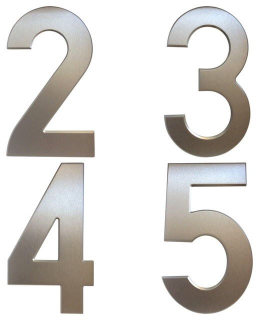 Silver House Numbers - Contemporary - Other - by Stylishly Numbered