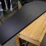 Coffin lid routed and base coat