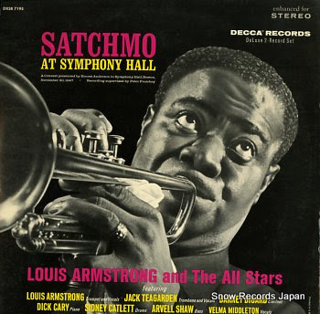 ARMSTRONG, LOUIS satchmo at symphony hall