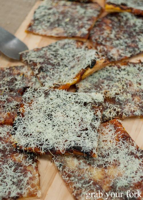 Caramelised onion and gruyere tart from Pinbone at the Sunday Marketplace, Rootstock Sydney 2014