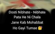 Friendship Shayari In Hindi And English me