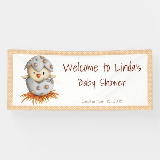 Bird Hatching Baby Shower Banner