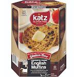 Katz Gluten Free Cinnamon Raisin English Muffins 8.5 Oz