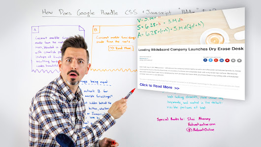 "How Does Google Handle CSS + Javascript ""Hidden"" Text? - Whiteboard Friday"