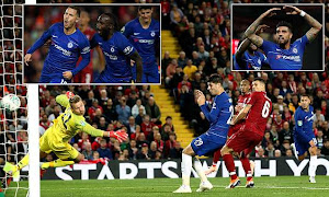 Liverpool 1-2 Chelsea: Eden Hazard rescues Blues from Carabao Cup exit