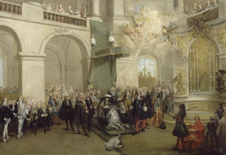File:La remise de l'Ordre du Saint-Esprit dans la chapelle de Versailles.jpg