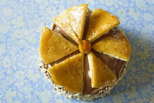 dobos torte - top of cake