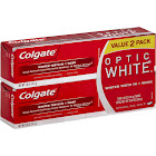 Colgate Optic White Toothpaste, Sparkling Mint - 2 pack, 5 fl oz tubes