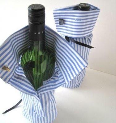 Чтобы вино или шампанское не оставляли следов на столе