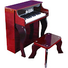 Schoenhut 25 Key Elite Spinet Piano - Mahogany/Black