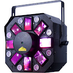 American DJ Stinger II - 3 FX-In-1 - Moonflower, Strobe, and Laser Effect with UV