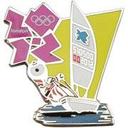 London 2012 Olympics Mascot Sailing Pin