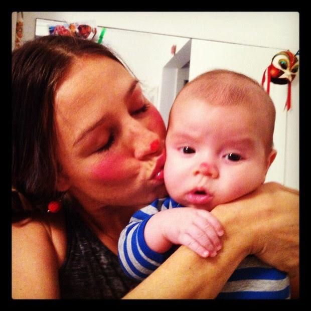 Luana Piovani posta foto com o filho, Dom (Foto: Twitter / Reprodução)