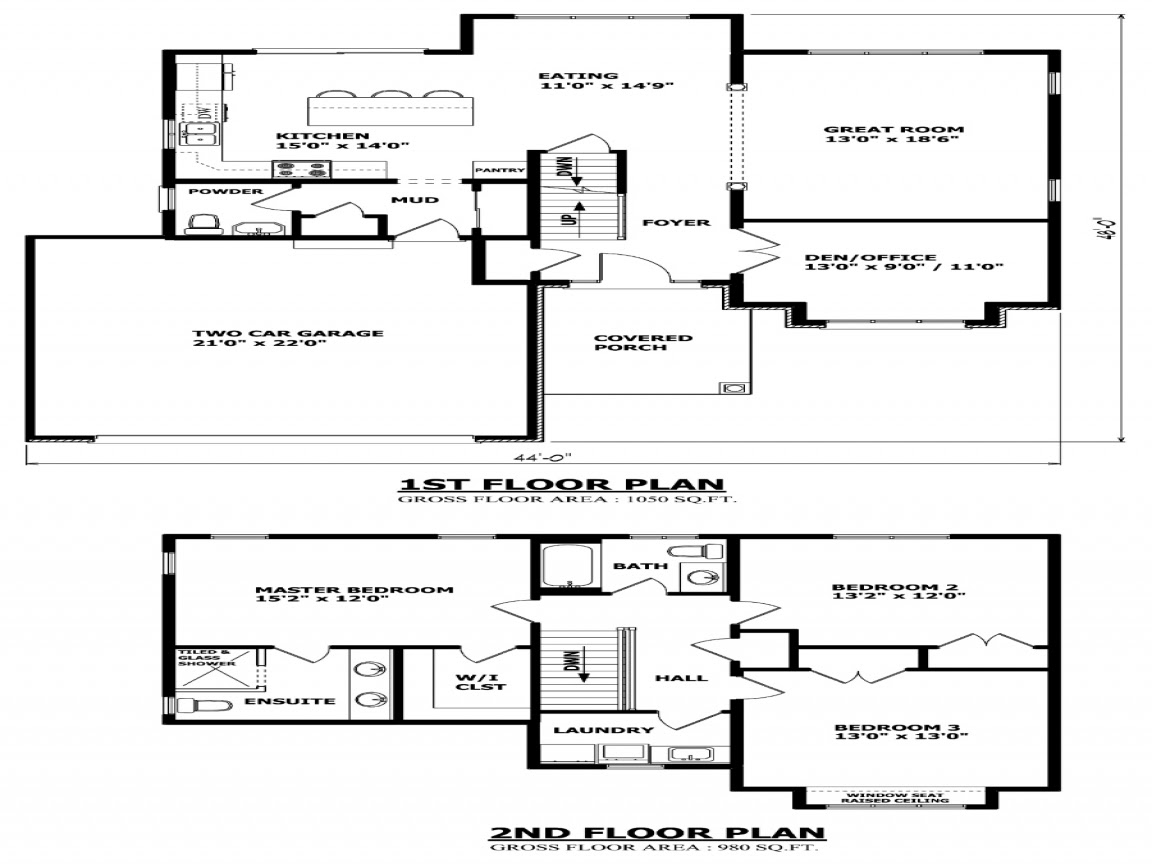 Inexpensive Two Story House  Plans  Two Storey House  Plans