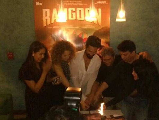 Pics: After a special screening for Vishal's filmmaker friends, 'Rangoon' screened for Bollywood's glitzy young stars - Times of India