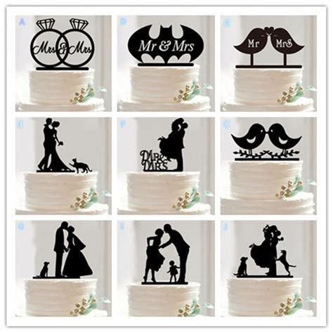 10 Style Optional Acrylic Wedding Cake Topper Wedding Cake