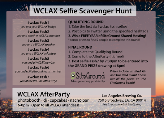 Selfies, Prizes, and the WCLAX AfterParty
