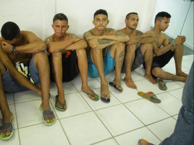 Integrantes de quadrilha que roubou loteria são presos em São Luís (Foto: Divulgação/SSPMA)