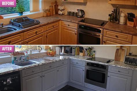 mum revamps  kitchen  bm worktops  cost