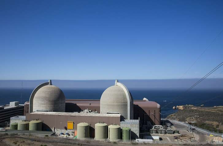 Monday August 24, 2015, San Luis Obispo County, California  The Diablo Canyon Power Plant is an electricity-generating nuclear power plant near Avila Beach in San Luis Obispo County, California. The plant has two Westinghouse-designed 4-loop pressurized-water nuclear reactors operated by Pacific Gas & Electric.  The facility is located on about 900 acres (360 ha) west of Avila Beach, California. Together, the twin 1,100 MWe reactors produce about 18,000 GWáh of electricity annually, about 7% of the electricity California uses, supplying the electrical needs of more than 3 million people. (Nancy Pastor for the San Francisco Chronicle)