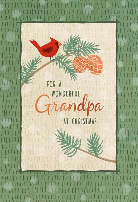 For a Wonderful Grandpa Christmas Card   Greeting Cards