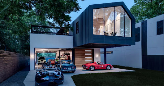 Dashing modern home was designed for the car lover