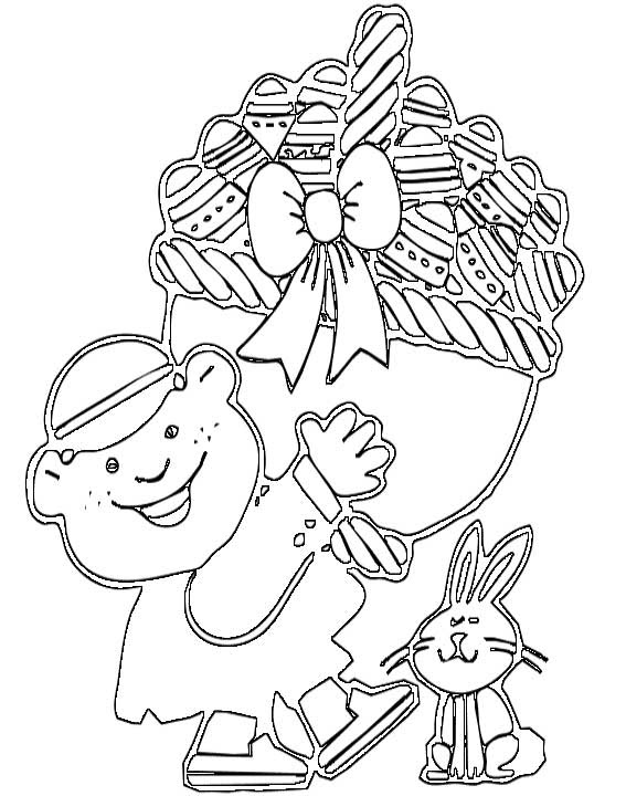 Easter Eggs Coloring Page for Kids - Free Printable Picture