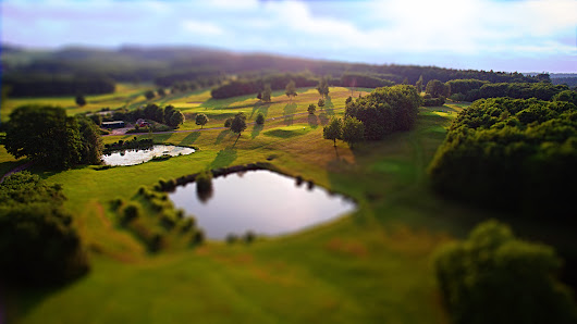 Drone shot of the middle part golfclub dresden