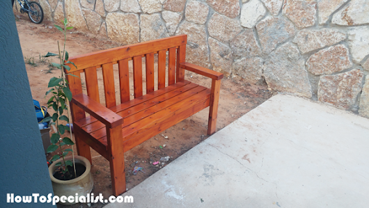 DIY 2x4 Wooden Outdoor Bench | HowToSpecialist - How to Build, Step by Step DIY Plans