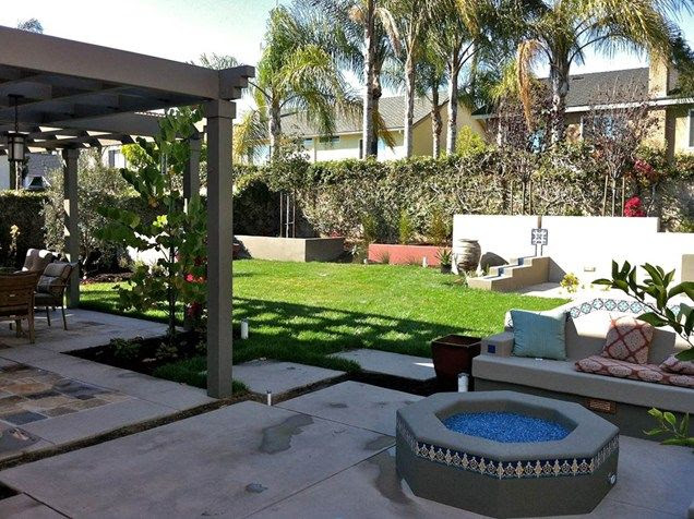 Back Yard Fire Pit for Covered Patio Designs