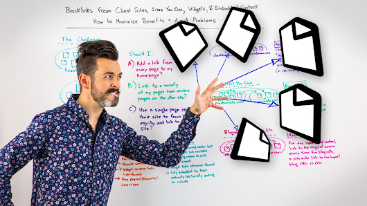 Backlinks from Client Sites, Sites You Own, Widgets, & Embedded Content: How to Maximize Benefits & Avoid Problems - Whiteboard Friday
