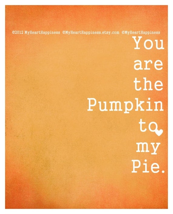 8x10 Digital Pumpkin Pie Print