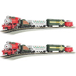 Bachmann Trains Merry Christmas Express 1:160 N Scale Model Train Set (2 Pack) by VM Express