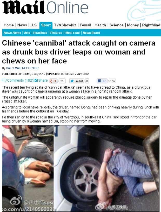 Imagens divulgadas pelo 'Daily Mail' mostram a mulher após ataque e motorista rendido pela polícia (Foto: Reprodução)