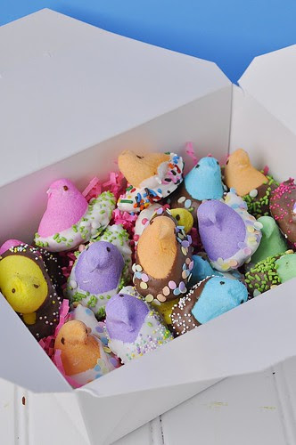 Things to do with Marshmallow Peeps Chocolate covered easy edible Easter Craft