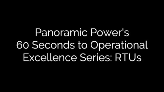 60 Seconds to Operational Excellence Series: RTUs [VIDEO]