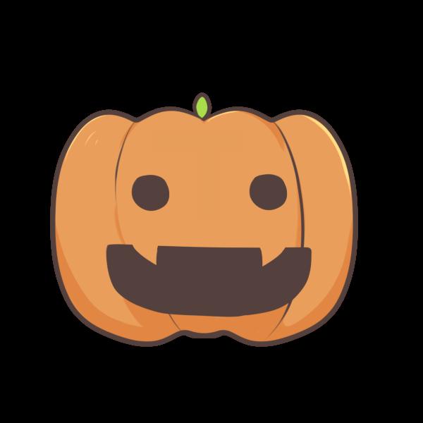 かぼちゃ1のイラスト かわいいフリー素材が無料のイラストレイン