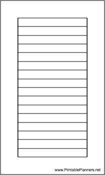 This daily planner page of lined note paper goes on the left-hand ...
