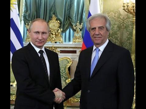 Vladimir Putin. Russian-Uruguayan talks.