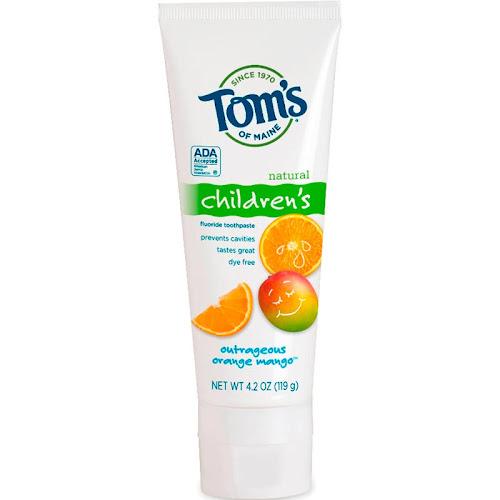 Tom's of Maine Children's Fluoride Toothpaste, Outrageous Orange Mango - 4.2 oz tube