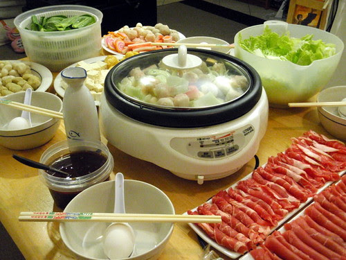 Hot pot set up