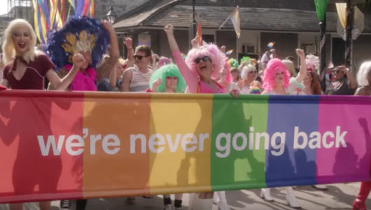 "New Orleans holds a ""reverse parade"" opposing Trump's antigay agenda in powerful must-see video"