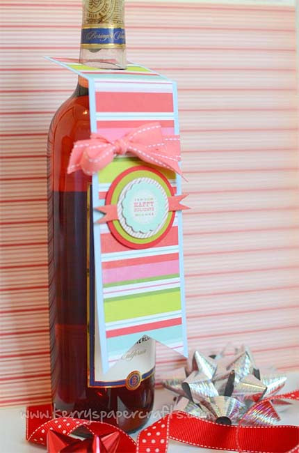 how to make a gift tag for a wine bottle