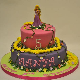 Two Tier Rapunzel Cake   Children's Birthday Cakes